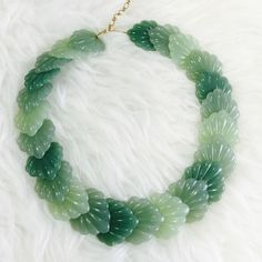 "🌺 HP 🌺 'Jade' Leaf Necklace 🌺 7/29 Jet Set Style Host Pick by @jooky 🌺Incredible necklace! @ 1980 This light weight multi green color sculptured necklace is a work of art. Hook closure. 18"" long with 3""extender fashion jewelry Vintage Jewelry Necklaces"