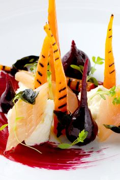 This dish from Michael WIgnall requires cooking sous-vide and a fair amount of prep. It is well worth the effort, with the delicious and complex blend of smoky trout, charred carrots and earthy beetroot coming together brilliantly in the final dish.