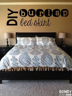 Burlap Bed Skirt tutorial!