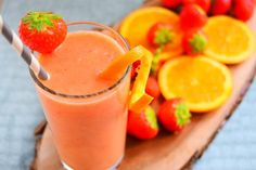 Strawberry, Orange & Banana Frappe By MyNutriCounter