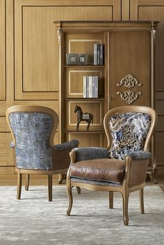 Armchair Filippo and antic wardroble Classic design arvestyle collection