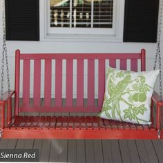 Asheboro 4 ft Slat Back Porch Swing by Dixie Seating