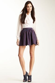 Plaid Skirt - HauteLook.com Summertime Outfits, Button Dress, Plaid Skirts, Fashion Lookbook, American Apparel, Virtual Closet, Fasion, Spin, Summer Time