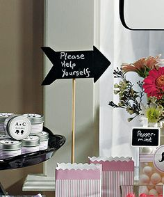 wedding candy buffet signs as low as $10.38