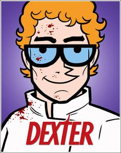 This is a mashup picture of Dexter from Dexter's Lab and Dexter from that show Dexter about the serial killer. I've seen a shit-ton of Dexter's Lab but only one episode of Dexter because he reminds me too much. Funny Celebrity Pics, Celebrity Pictures, Michael C. Hall, Dexter Laboratory, Smokey And The Bandit, Horror, Nerd Art, Pop Culture Art, Dexter Morgan