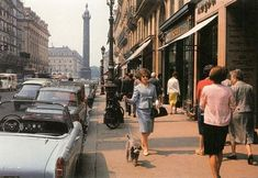 PARIS - Rue de La Paix in the - Photo Willy Ronis - Rue de la Paix is one of the most prestigious Paris' streets. In the background, the Place Vendôme where the Ritz Hotel is located Europe Street, Paris Street, Street View, Willy Ronis, Paris Vintage, Old Paris, Cities, Ville France, French Photographers