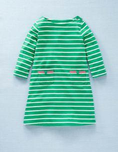 Stripy Boat Neck Dress by Mini Boden
