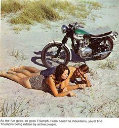 Vintage Triumph motorcycle ad #vintage #Triumph #motorcycles