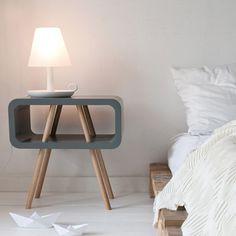 Table de chevet Open Minded trapèze de Leitmotiv - Absolument Design
