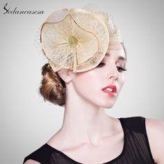 Fashion Flower Bridal Hats Elegant Ladies Hairband For Wedding Party Evening Beautiful Fascinator Hats WOW #shop #beauty #Woman's fashion #Products #Hat