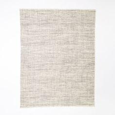Heathered Basketweave Wool Rug, Steel At West Elm - Solid Rugs - Accent Rugs
