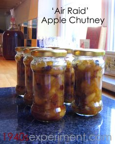 Air Raid Apple Chutney - Wartime Recipe