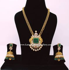 Indian Bridal Jewellery Gold Blouse Designs 60 Ideas For 2019 Indian Jewellery Design, Indian Jewelry, Jewelry Design, Indian Necklace, Latest Jewellery, Jewelry Ideas, Pearl Necklace, Bridal Jewelry, Beaded Jewelry