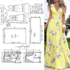 The photo Фотография The photo Dress Sewing Patterns, Sewing Patterns Free, Clothing Patterns, Fashion Sewing, Diy Fashion, Origami Fashion, Moda Fashion, Fashion Details, Diy Clothing