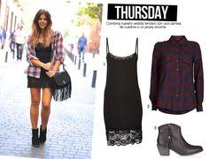 thursday-trendytaste-un-look-para-cada-dia-vestido-lencero-camisa-de-cuadros-bolso-flecos