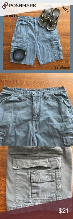 NorthCrest Steel Blue Mens Cargo Shorts 34 These NorthCrest cargo shorts are a nice steel blue color and still in great shape.   From a smoke-free and happy-to-bundle closet.  No trades or transactions outside of Poshmark. [P2002] Northcrest Shorts Cargo