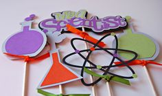 Scientist Birthday Party Centerpiece