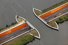 Aquaduct, Veluwemeer, Harderwijk.