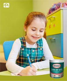 ¡Fomenta la creatividad en la habitación de los chicos  decorando con los colores que te ofrece Glide-On®! #DeGliddenParaTi