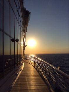 Make sure to head outside at sunset to catch some spectacular views. This shot was taken on Independence of the Seas.