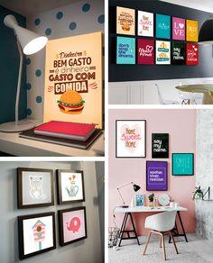 Presentes para uma parede linda, pra criar galeria de quadrinhos lindas e fofas na sala, no quarto, na cozinha ou onde você quiser com Posterstore Blog Remobilia