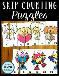 FREE Skip Counting Puzzles for early practice of multiplication skills. Count by and count by puzzles are included in two different sizes. A great back to school activity. Counting By 2, Counting Puzzles, Multiplication Activities, Math Activities, Classroom Resources, Math Resources, Primary Maths, Early Math, Learning Time