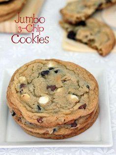 Jumbo Triple Chip Cookies Recipe