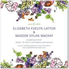 Save The Date!    http://www.weddingpaperdivas.com/product/9379/signature_white_textured_save_the_date_cards_painted_garden.html