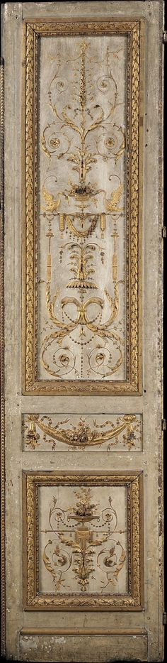 Door panel from the Tuileries Palace. Silver gilt, on wood. Style Louis XVI.  ♔ Château de rêves • Barbara Ziegler