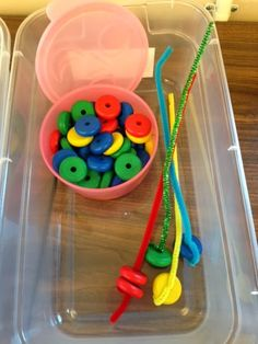 Some workbox ideas from Autism Tank blog - includes threading, sorting, labelling tasks