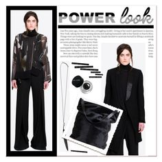 """Power look"" by janee-oss ❤ liked on Polyvore featuring Bobbi Brown Cosmetics"