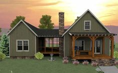 dogtrot-house-plans / 2  extra bedrooms could be a guest suite.