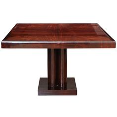 Art Deco Dining Table | From a unique collection of antique and modern dining room tables at https://www.1stdibs.com/furniture/tables/dining-room-tables/