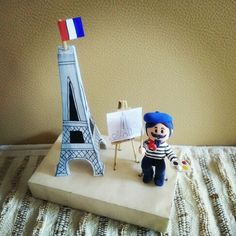 """Clay art _ peoples around the world #paris """"the painter"""""""