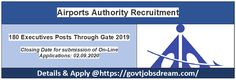 Airports Authority Jobs - 180 Executives Posts Through Gate 2019, Qualification: Electrical, Civil, Electronics Engineering. Engineering Technology, Electronic Engineering, Psu Jobs, Line Application, Air Space, Apply Online, Important Dates, Airports, Gate