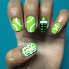 Tennis nails hair today gone tomorrow pinterest tennis nails prinsesfo Image collections