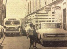 Morelos Norte en 1970. El sentido de la calle era de sur a norte.