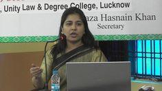 Mrs. Rafat Fatima, Social Activist speaking at the Ali Day Symposium on ...