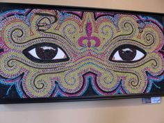 made with melted mardi gras beads - Google Search