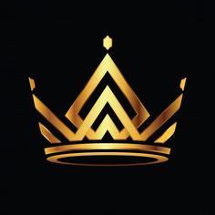 Modern crown logo royal king queen abstract logo v King And Queen Crowns, King Queen, Queen Logo, Logo Couronne, King Crown Drawing, Logo Abstrait, Royal Logo, Crown Art, Crown Tattoo Design