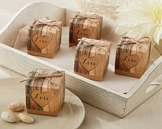 120 Hearts in Love Rustic Romance Wedding Favor Boxes | eBay