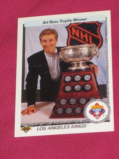 1990-91 #205 Wayne Gretzky, Upper Deck, Art Ross LA Kings #99 NHL Hockey Card | eBay