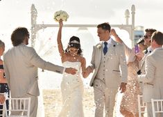 A Caribbean-themed wedding in Antigua. Click the link to view the full wedding album! Laura Marshall, Wedding Confetti, Wedding Album, Wedding Bells, Real Weddings, Caribbean, Sequin Skirt, Link, Beach