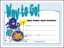 Certificate of achievement awards use for end of year finishing free printable music award certificates makingmusicfun yadclub Choice Image