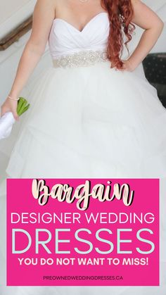 Planning your wedding in a tight budget? No worries! Here are plenty of bargain designer wedding dresses that are GORGEOUS and will save you lots. Click here to check out our huge selection of pre-loved, used and new designer wedding dresses and save up to 70%.  #PreLovedWeddingDresses #SaveMoneyOnWeddingDresses #BargainWeddingDresses #AffordableWeddingGowns