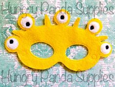 (10) Name: 'Embroidery : Five Eye Monster Mask Embroidery Design
