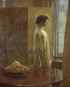 Impressionism Print of The East Window by one of the Old Masters,  American artist Frederick Childe Hassam.