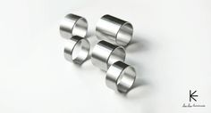 """Stylish Stainless Steel Rings """"Back to Basics"""" Collection Cheche Handmade cheche. Stainless Steel Rings, Jewelry Branding, Handcrafted Jewelry, Cufflinks, Brooch, Stud Earrings, Gifts, Accessories, Stylish"""