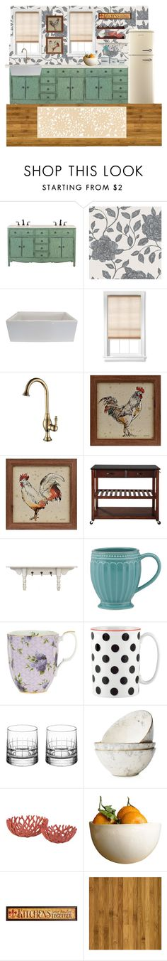 """Country Kitchen"" by hayley-tennis ❤ liked on Polyvore featuring interior, interiors, interior design, home, home decor, interior decorating, Home Decorators Collection, Somette, Belle Maison and Lenox"