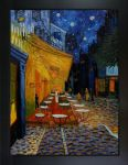 Van Gogh - Cafe Terrace at Night Pre-Framed - Oversized 36 X 48 - Hand Painted Canvas Art